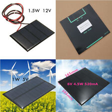 1X Mini 5V 1.5W Solar Panel Module DIY For Light Cell Phone Toy Charger Portable