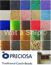 10g, 25g or 50g Traditional Czech Glass Seed Beads, Size 11/0 (2mm) Bead Weaving