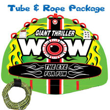 WOW Giant Thriller Towable Ski Tube Inflatable Biscuit Boat Ride + 3 Person Tow