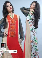Indian Pakistani Embroidered Designer Suits Casual Dress Shalwar Kameez Stitched