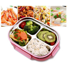 Girls Hello Kitty Stainless Steel Lunch Box with Compartment Bento Lunchbox Bag