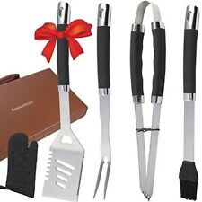 BBQ Grill Tools Set 6 PCS Stainless Steel Barbecue Grilling Tools n Storage Case