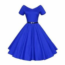 Women V-neck Pinup Ball Gown Party Wear Plus Size Knee-length Dress Kh13