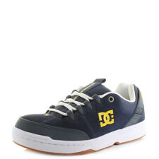 Mens DC Syntax Navy White Leather Lightweight Skate Trainers Shoes Shu Size