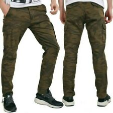 Redbridge Men's Camouflage Cargo Trousers Army Military Soldier Jeans 100%