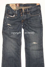 NWT! SOLD OUT! HOLLISTER by Abercrombie Mens Destroyed Classic Straight Jeans