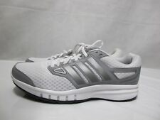 Womens Adidas Galaxy Elite Running Shoes White Grey Lace Up Textile Trainers