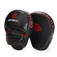 Focus Curved Boxing Pad Mitts Punch MMA Kick Boxing Punching Hook Jab Black Red