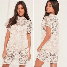 BNWT Missguided Stone Lace Oversized T Shirt Dress