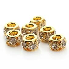 20Pcs Shinning Spacer Beads Charm European Bracelet Making With Big Hole