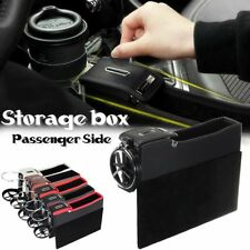 Leather Catch Box Caddy Car Seat Gap Slit Pocket Storage Coin Catcher Organizer