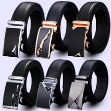 Fashion Belt Black Mens Genuine Leather Belts Automatic Buckle  Belt Audi Strap