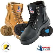 Steel Blue Argyle Zip Wheat Leather Work Boots Non-Safety 310152