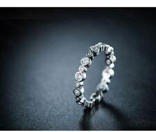 Silver Gold Color Plated Round Stone Cubic Zircon Ring for Women