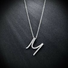 New Fashion Silver Plated Chain Letter Tiny Cubic Necklace For Women