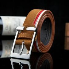 Pu Leather Solid Color Pin Buckle Stylish Casual Wear Belt For Men