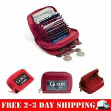 Womens Genuine Leather Mini Wallet Multy Credit Card Cash Coin Money Holder Id