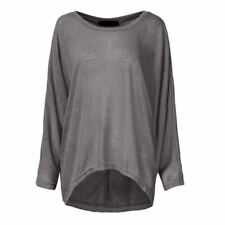 New Fashion O Neck Long Sleeve Loose Spring Autumn Wear Top Plus Size For Women