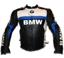 BMW Sports Motorcycle Leather Jacket Motorbike Racing Leather Biker Jacket Armor