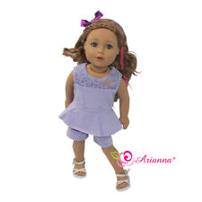 18 Inch Doll Clothes Romper Jumpsuit Lavender Fits 18 Inch American Girl Dolls