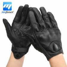 Leather Motorcycle Gloves Winter Genuine Real Racing Riding Driving Mittens Full