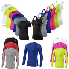 Womens Workout Yoga Vests Running Dancing Fitness Gym Tank Tops T-Shirts Wicking