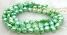 "SALE Small 5-6mm Natural Green Freshwater BAROQUE Pearl Loose Beads 14""- los524"