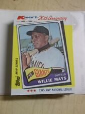 1982 K-Mart Baseball Cards (MVP Series) **You Pick ** Willie Mays Free Shipping