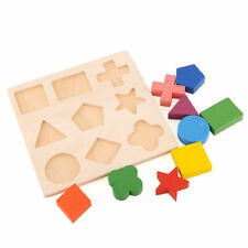 Puzzle Jigsaw Kids Baby Puzzle Montessori Learning Geometry Educational Wooden