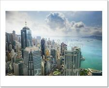 Hong Kong China City Skyline Art Print Home Decor Wall Art - 2