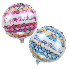 Mermaid Scales Happy Birthday Balloon Party Baby Shower Party Decoration Supplie