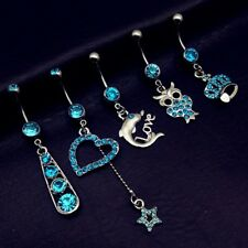 1-5pcs Dangle Navel Rings Belly Button Rings Body Piercing Jewelry