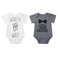 Infant Baby Kids Letter Printed Romper Bodysuit Jumpsuit Cotton Clothes Outfits