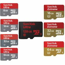 16/32/64/128GB SanDisk Ultra Extreme Micro SD SDHC/SDXC Card CLASS 10 UHS-I