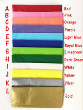 Bulk Lot 10 Sheets Colored Tissue Paper Gift Wrapping Package Wrap Craft Paper