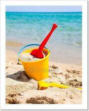 Beach Bucket With Spade Art Print Home Decor Wall Art - 3