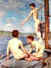 The Bathers by Tuke (classic English seaside art print)