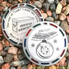 "Christmas Cache Geocoin GeoMedal (2.5"" + Translucent Colours)"