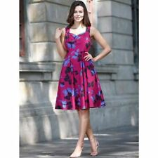 Women Floral Print Style Strapless Sleeveless Beach Casual Wear Party Dress