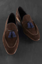 Handmade Moccasin Brown Loafer Shoes, Men Casual Formal Suede Tussle Shoes