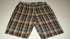 NWT TOMMY HILFIGER Plaid Casual Shorts Mens Sizes 29  36, 40 Navy / Dark Red