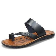 Men Beach Sandals Shoes Slippers S Summer Flip Flops Slippers Genuine Leather