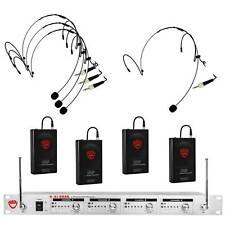 Nady U-41 HM-10 Wireless UHF Headset 4-Channel Microphone System with HM-10 Omni