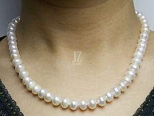 Freshwater Pearl Bridal 9 -11mm Necklace Stirling Silver Clasp & Pearl Earrings.