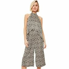 Women Floral Print Vintage Sleeveless Casual Cropped Pant Jumpsuit Romper