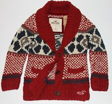 HOLLISTER Abercrombie Womens Cable Knit Shawl Collar Cardigan Sweater S,M $130