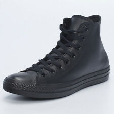 Converse Mens Leather Chuck Taylor Hi Shoes in Black