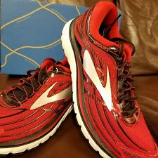 BRAND NEW IN BOX! BROOKS GLYCERIN 15 MENS RUNNING SHOES RED BLACK WHITE D WIDTH