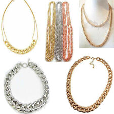 Chunky Link Chain Collar Choker Thick Curb Pendant Chain Statement Bib Necklace