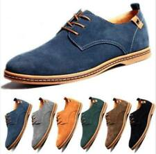 Mens Formal Suede Dress Shoes Size Casual Oxfords Leather Business Smart Shoes